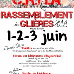 Rassemblement des Glières 1,2 et 3 juin : Demandez le programme !