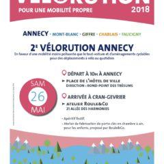 Vélorution samedi 26 mai à Annecy, Samoens, Sallanches, Reigner et Allinges