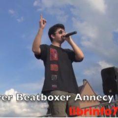 River, beatboxer annécien sur scène à la fête de la musique