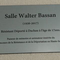 Walter Bassan a rejoint les jeunes du lycée du Mont Blanc par la pensée