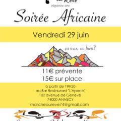 Ce vendredi 29 juin, soirée africaine avec «Marche ou rêve» : Cuisine, Solidarité, Humanité