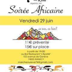 Ne manquez pas la «super» soirée africaine du vendredi 29 juin à Annecy