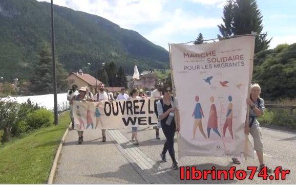 Arrivée à Calais le 7 juillet, la marche des migrants était le 2 juin à Thorens au rassemblement des Glières