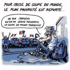 Macron repousse à Septembre le plan contre la pauvreté pour raison de foot.