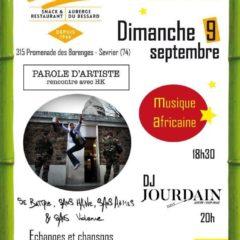 Dimanche 9 septembre concert organisé par AMNESTY ANNECY à l'oasis
