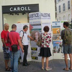 Le collectif «justice pour la Palestine» à Annecy ce Samedi 11 Août.