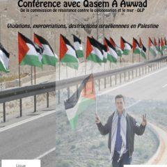 Mercredi 26 septembre, Qasem A Awwad, militant palestinien était à Annecy
