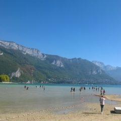 Le lac d'Annecy au plus bas.