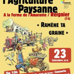 «Ramène ta graine» à Reignier le dimanche 23 septembre avec la Confédération Paysanne