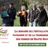 Semaine de l'installation paysanne et de la transmission des fermes en Haute-Savoie