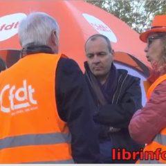 Laurent Berger et les militants CFDT de la commune nouvelle demandent à Jean-Luc Rigaut de tenir compte de leurs propositions
