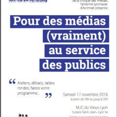 Samedi 17 novembre à Lyon «Pour des médias (vraiment) au service des publics»