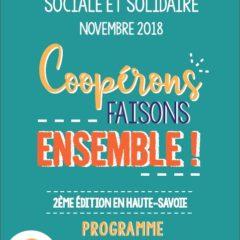 NOVEMBRE 2018 : Mois de l'Économie Sociale et Solidaire en Haute-Savoie