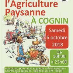 Ce samedi 6 octobre, fête de l'agriculture paysanne à Cognin en Savoie