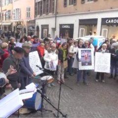Ils manifestaient ce matin à Annecy pour l'anniversaire des 70 ans de la déclaration universelle des droits humains