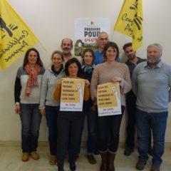 Présentation des candidats de la Confédération paysanne de Haute-Savoie aux élections à la Chambre d'Agriculture Savoie-Mont-Blanc