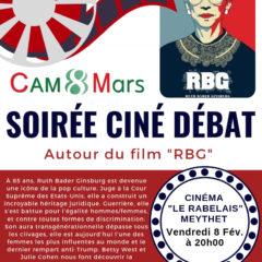 Le CAM 8 mars vous invite le vendredi 8 février à une soirée débat au Rabelais à Meythet autour du film RBG