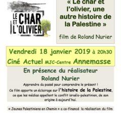 Vendredi 18 janvier à Annemasse, «Le char et l'olivier», une autre histoire de la Palestine»