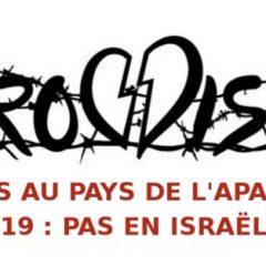 Une pétition contre la tenue le l'Eurovision en Israël, pays ou règne l'apartheid