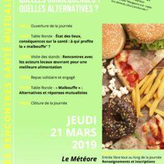 Jeudi 21 mars au Météore, vous êtes invités aux rencontres santé sur la «malbouffe»