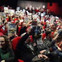 Salle comble au Rabelais pour le film «J'veux du soleil» de Gilles Perret et François Ruffin