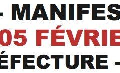 Ce mardi 5 février appel à la grève et rassemblement à 14H00 devant la Préfecture à Annecy