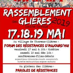 Rassemblement des Glières 2019, du vendredi 17 au dimanche 19 mai