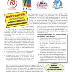 Ce jeudi 9 mai, la CFDT rejoint la grève unitaire des fonctions publiques pour la défense citoyenne des services publics