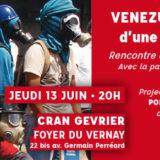 Jeudi 13 juin à Cran-Gevrier, rencontre avec Maurice Lemoine pour débattre sur le Vénézuela
