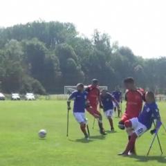 Extraordinaire rencontre de foot avec les joueurs amputés de Gaza et de France