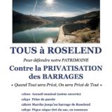 Samedi 22 juin, «faire barrage» à la privatisation de Roselend