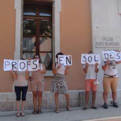 Les enseignants grévistes toujours aussi mobilisés sur Annecy