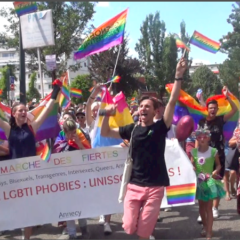850 marcheurs joyeux et fiers à Annecy pour défendre l'amour sans limite