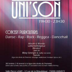 Samedi 13 juillet Concert pluriculturel à Annecy avec la LDH