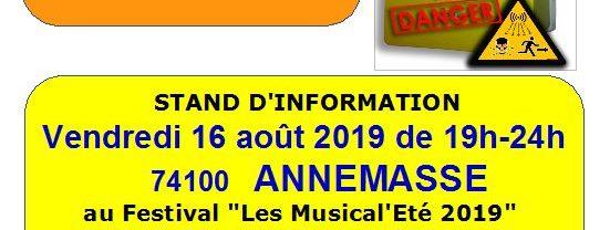 Vendredi 16 août, STOP LINKY 74 vous attend au festival musical d'Annemasse