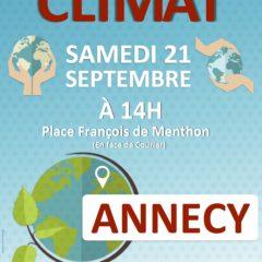 Samedi 21 septembre, marche pour le climat à Annecy et à Thonon