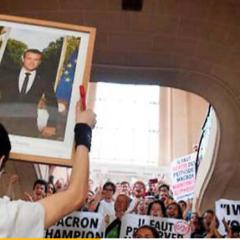 Ce jeudi 17 Octobre au tribunal de Bonneville, soutien aux « Décrocheurs Macron » de la Vallée de L'Arve