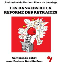 mardi 22 octobre à 20h à Annemasse conférence débat organisée par attac 74 Genevois : LES DANGERS DE LA REFORME DES RETRAITES