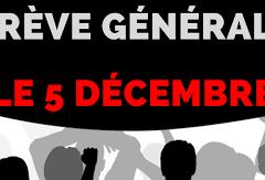RETRAITE : abandon du projet Macron ! – Manifestation jeudi 5 décembre – 14h Préfecture Annecy
