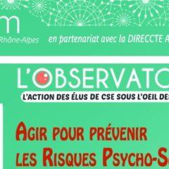 Comment agir pour prévenir les risques psycho-sociaux avec l'Observatoire CEZAM Auvergne Rhônes-Alpes ?