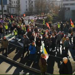 Forte mobilisation à Annecy contre la réforme des retraites avec 3700 manifestants