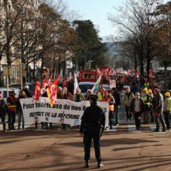 1300 manifestants contre les retraites à Annecy