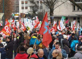 2100 manifestants ce vendredi 24 janvier à Annecy contre la réforme des retraites