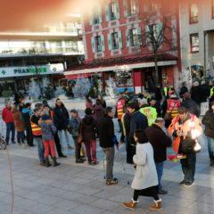9 janvier : 200 personnes à Annemasse contre la réforme des retraites