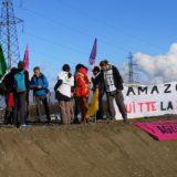 Les militants d'Extinction/Rebellion bloquent le chantier AMAZON à Seynod