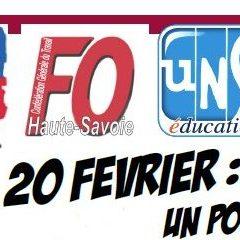 Réforme des retraites : ce jeudi 20 février le rendez-vous est devant la bourse du travail à Annecy à 14H00