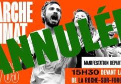 ANNULATION de la marche climat prévue samedi 14/03 à La Roche sur Foron