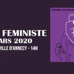 8 mars : journée internationale de lutte pour le droits des femmes – Annecy : 14h Hôtel de Ville