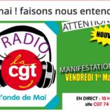 La CGT prévoit un 1er mai en ligne