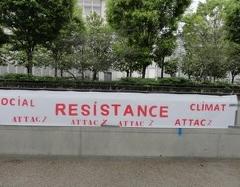 Pour fêter le 1er mai, ATTAC affiche à Annemasse